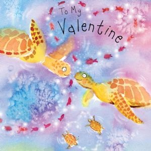 FIZ24 - Valentines Day Card Turtles